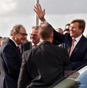 Koning Willem Alexander in Vlissingen