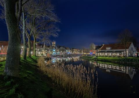 Sluis by night